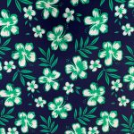 Navy with Green Hibiscus