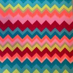 Printed Fluro Chevron Stripes