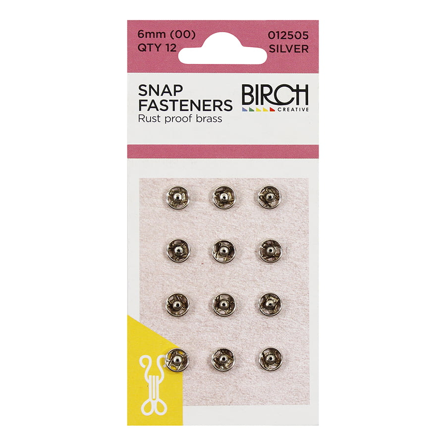 Silver Snap Fasteners