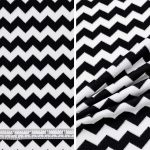Chevron Yarn (Dyed Black and White)