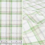 Green/Off-white Checks