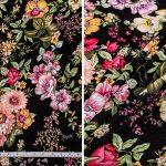 Black and Pink Floral