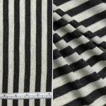 Navy Silver Block Stripe