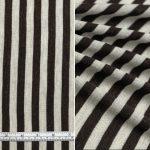 Chocolate Silver Block Stripe