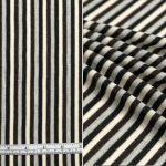 Cream Grey Black Stripe