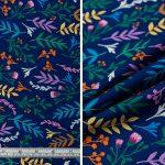 Multi Colour Leaves - Mid Blue