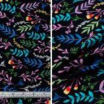 Multi Colour Leaves - Navy