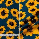 Sunflowers - Mid Blue