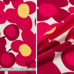 Large Retro Floral - Pink White