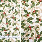 Christmas Holly Large Cream