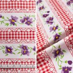 Flowers and Gingham - Red
