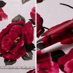 Red Flower - White